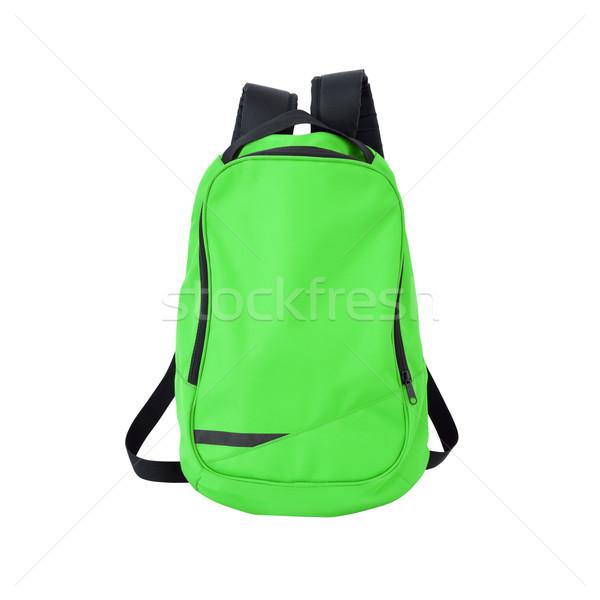 Groene rugzak geïsoleerd pad afbeelding rugzak Stockfoto © kravcs
