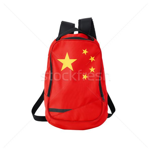 China flag backpack isolated on white Stock photo © kravcs