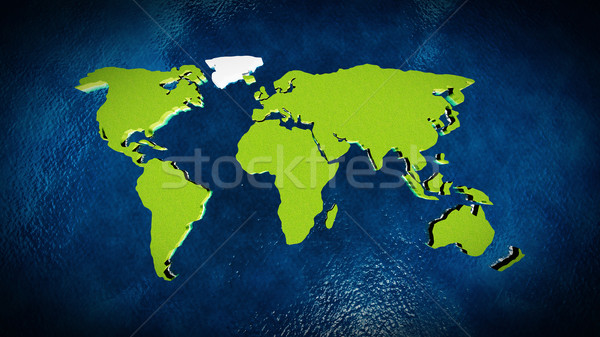Map of the world in the ocean Stock photo © kravcs