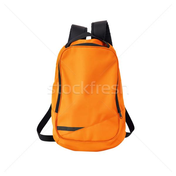 Oranje rugzak geïsoleerd pad afbeelding rugzak Stockfoto © kravcs