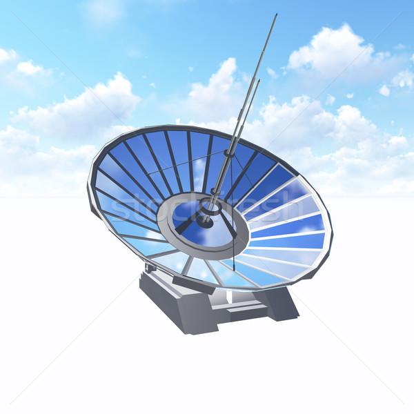 спутниковой антенна используемый астрономия Сток-фото © kravcs