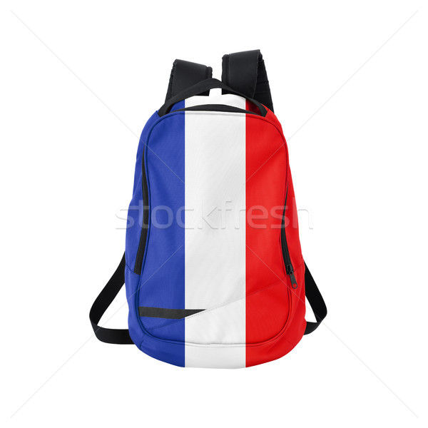 France flag backpack isolated on white Stock photo © kravcs