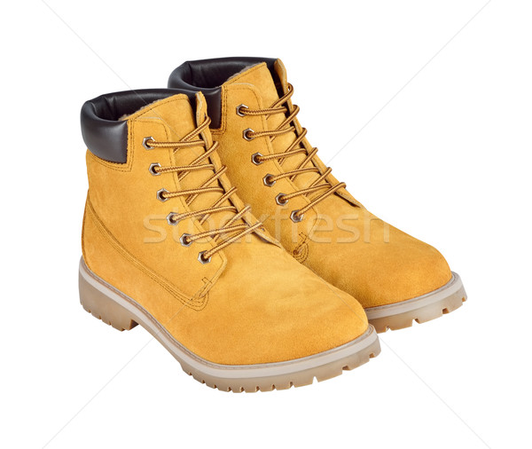 Yellow leather boots isolated on white background with clipping  Stock photo © kravcs