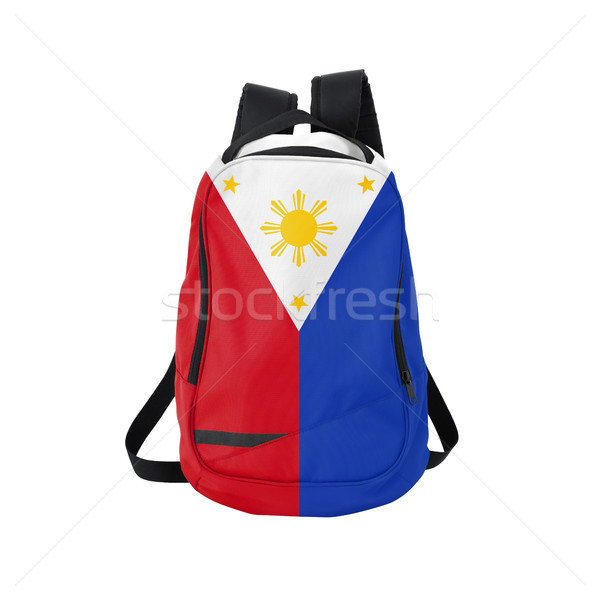 Philippines flag backpack isolated on white Stock photo © kravcs