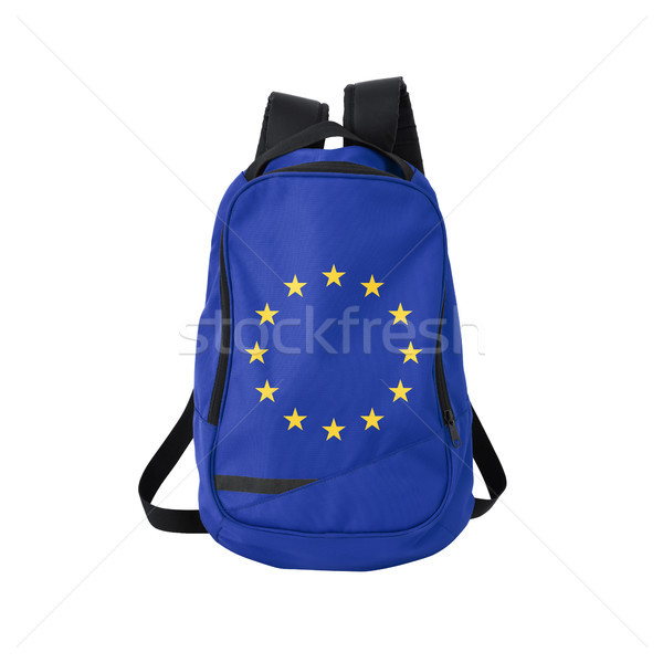 EU flag backpack isolated on white Stock photo © kravcs