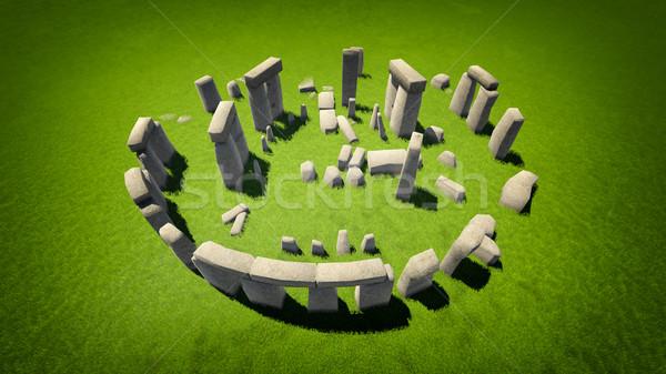 Stonehenge élevé qualité image une célèbre Photo stock © kravcs