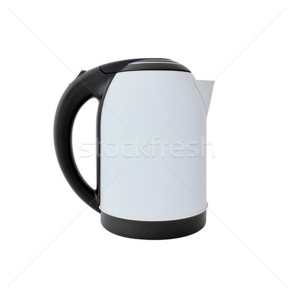 белый чайник изолированный фон кухне Сток-фото © kravcs