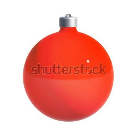 Christmas bal pad decoratie geïsoleerd witte Stockfoto © kravcs
