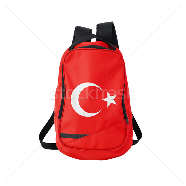 Turkey flag backpack isolated on white Stock photo © kravcs