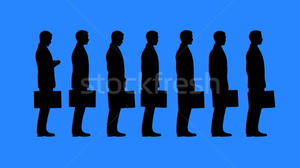 Bureaucratie personnes attente personne Photo stock © kravcs