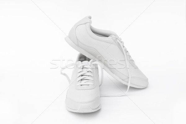 Zapatillas par blanco deporte deportes zapatos Foto stock © kravcs