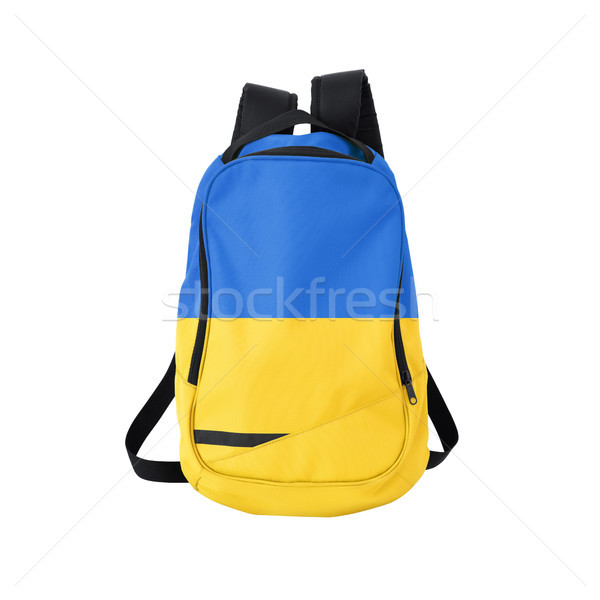 Ukraine flag backpack isolated on white Stock photo © kravcs