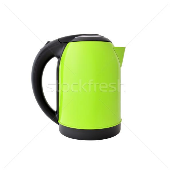 зеленый чайник изолированный белый фон Сток-фото © kravcs