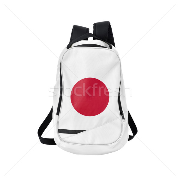 Japan flag backpack isolated on white Stock photo © kravcs