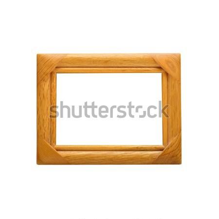 фоторамка пути изолированный белый древесины Сток-фото © kravcs