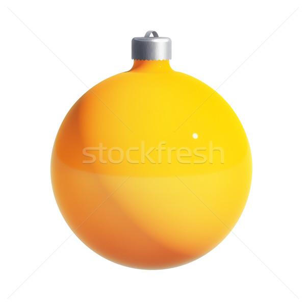 Stockfoto: Christmas · bal · pad · decoratie · geïsoleerd · witte