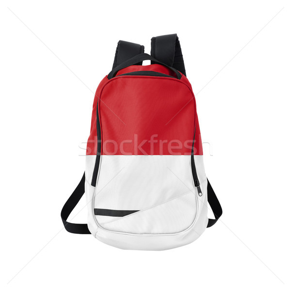 Indonesia flag backpack isolated on white Stock photo © kravcs