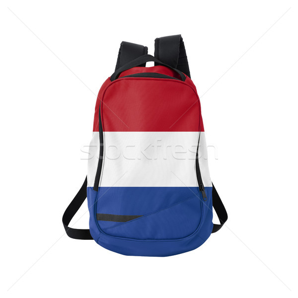 Holland flag backpack isolated on white Stock photo © kravcs