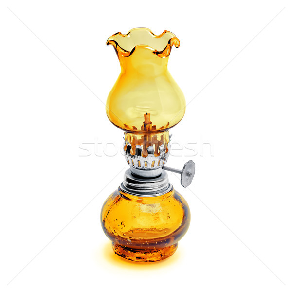Retro geïsoleerd witte lantaarn Geel Stockfoto © kravcs