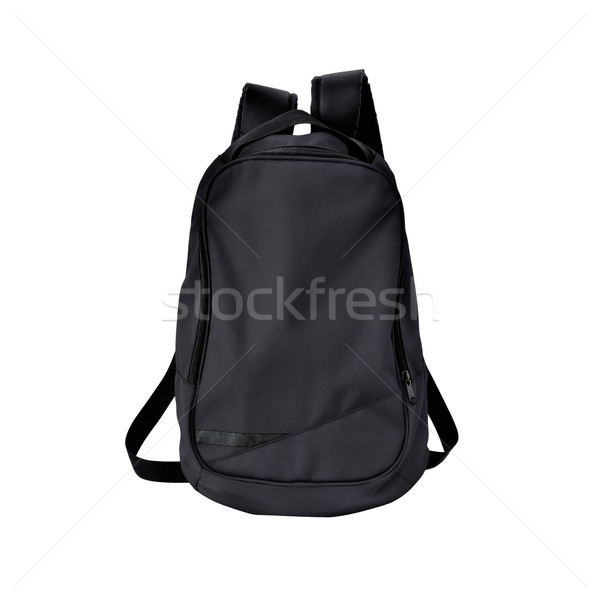Black backpack isolated with path Stock photo © kravcs