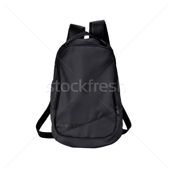 Zwarte rugzak geïsoleerd pad afbeelding rugzak Stockfoto © kravcs