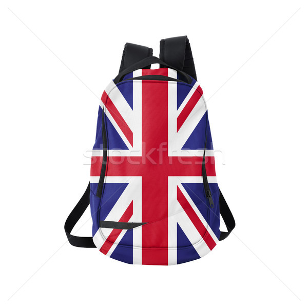 UK flag backpack isolated on white Stock photo © kravcs