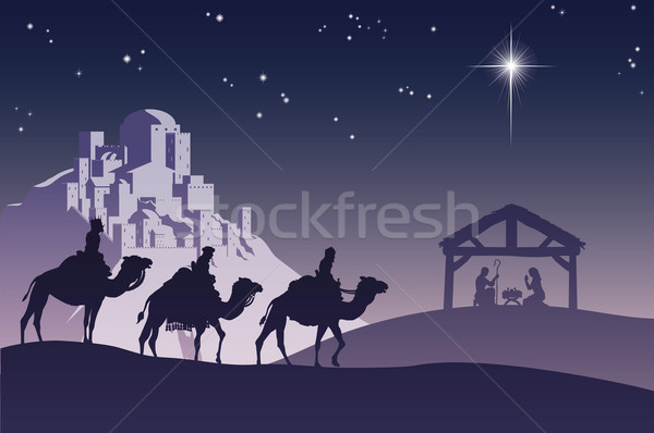 Stock photo: Christian Christmas Nativity Scene