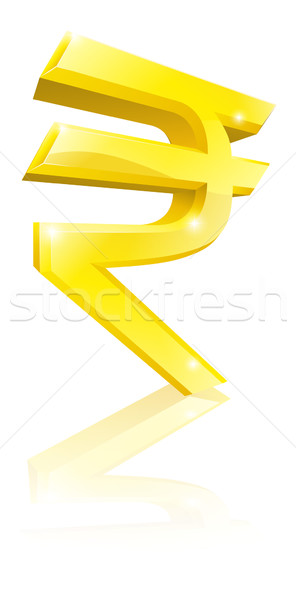 Rupee currency sign Stock photo © Krisdog
