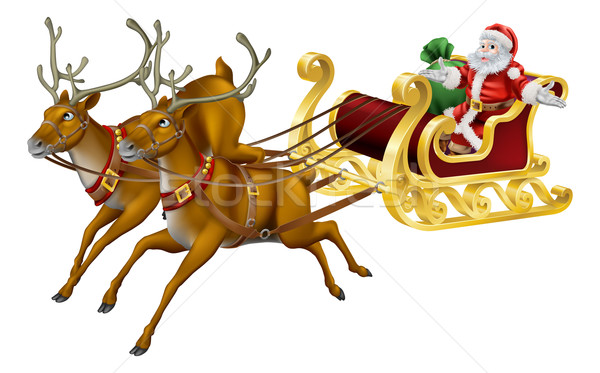 Stock photo: Christmas sled