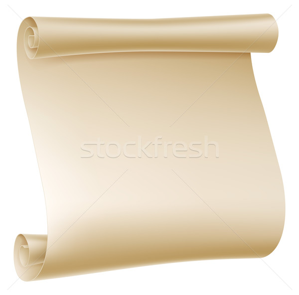 Paper Scroll Illustration Stock photo © Krisdog