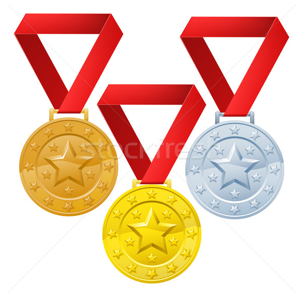 Stock photo: Winners medals