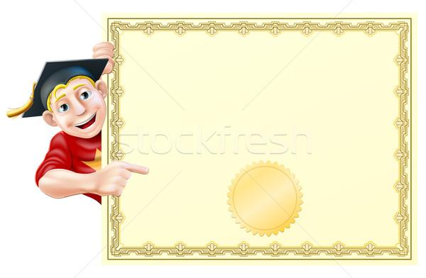 Graduate and certificate Stock photo © Krisdog