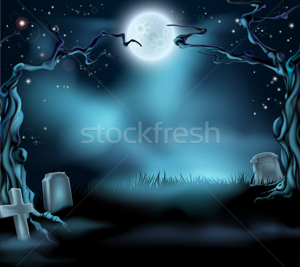 Spooky Halloween Background Scene Stock photo © Krisdog