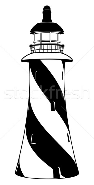 Black and white lighthouse Stock photo © Krisdog