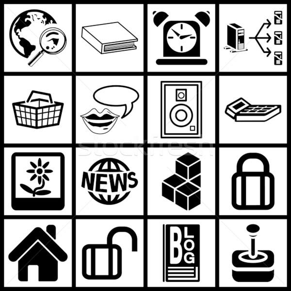 Internet web icon series set Stock photo © Krisdog