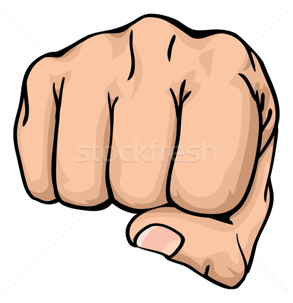a fist punching towards you Stock photo © Krisdog