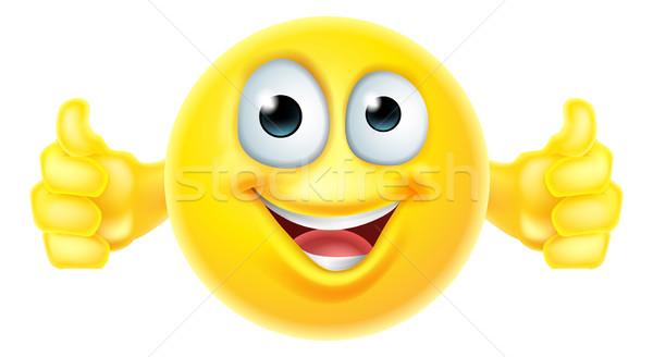 Thumbs up emoji smiley Stock photo © Krisdog