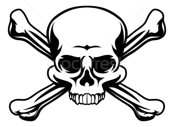 Skull and Crossbones Symbol Stock photo © Krisdog