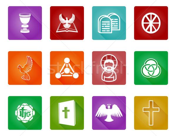 Stockfoto: Christelijke · godsdienst · religieuze · iconen · symbolen