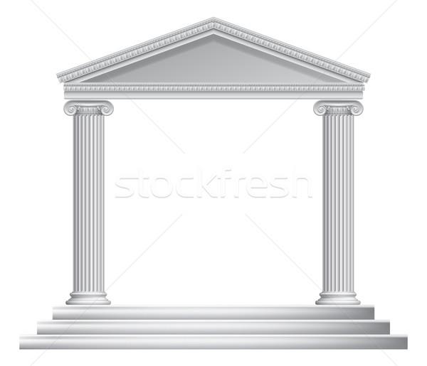 Greek Column Temple Stock photo © Krisdog