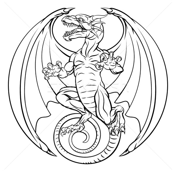 Dragon Tattoo Design Stock photo © Krisdog
