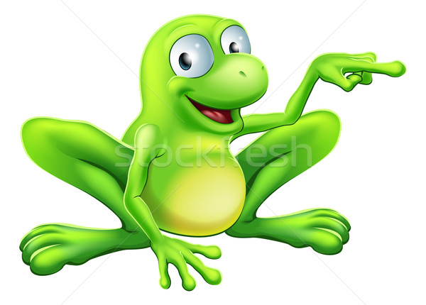 Frog pointing illustration Stock photo © Krisdog