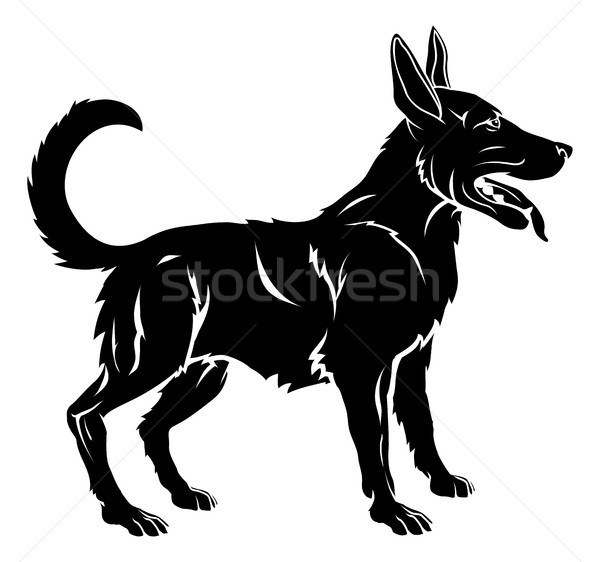 Stylised dog illustration Stock photo © Krisdog