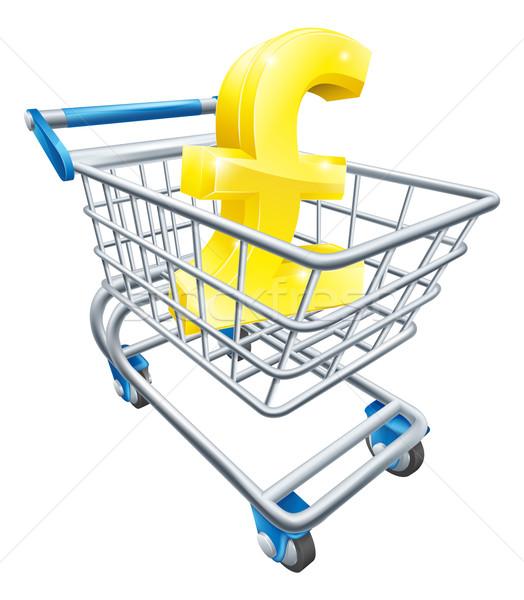Font pénz valuta felirat áruház bevásárlókocsi Stock fotó © Krisdog