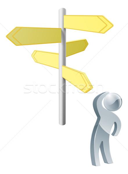Deciding on route Stock photo © Krisdog