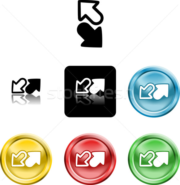 arrows icon symbol Stock photo © Krisdog
