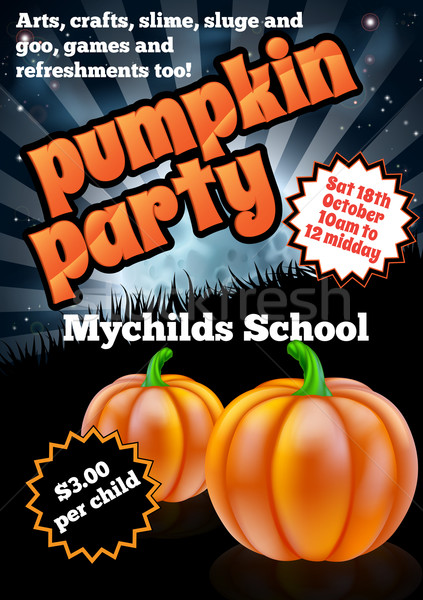 Halloween Pumpkin Party Flier Stock photo © Krisdog