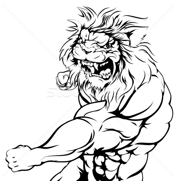 Tiger character fighting Stock photo © Krisdog