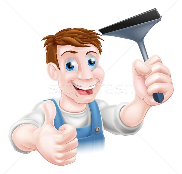 Limpador de janelas negócio homem trabalhar Foto stock © Krisdog