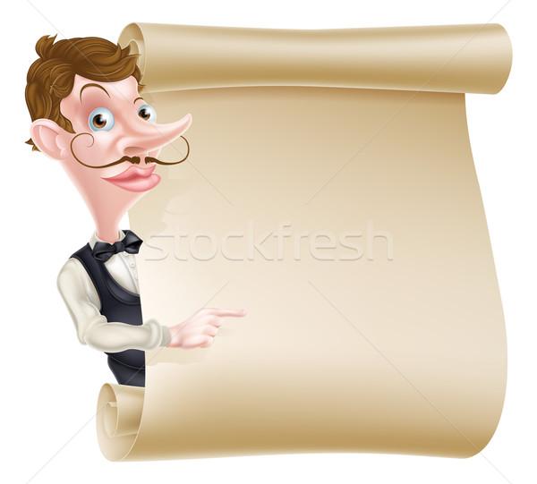 Pincér tekercs illusztráció rajz felirat mutat Stock fotó © Krisdog